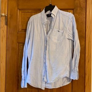 Light blue Vineyard vines seersucker shirt size S